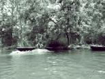 Copyright © Sherley J. Edinbarough (Surely, Sherley and/or SurelySherley), 2014. Hogenakkal Falls, Tamil Nadu, India- A paricel (boat) navigator resting after a long morning.